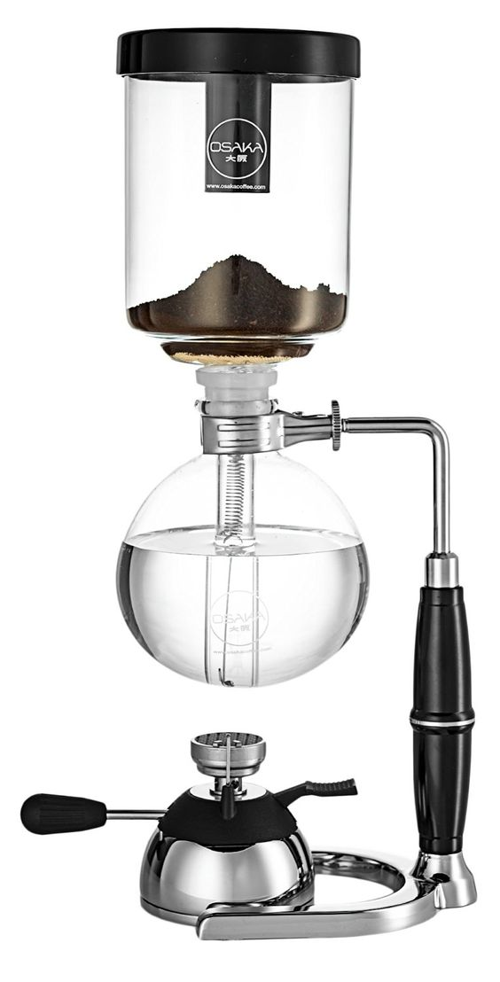Osaka 4 Cup (20oz/600ml) Siphon Coffee Maker, Borosicilate Glass and Stainless Steel Vacuum Coffeemaker 'Skytree' with Gas Burner and Alcohol Burner ** Don't get left behind, see this great product : Coffee Maker