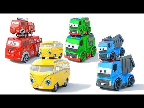Vehículos De Emergencia Y Coches De Juguete Autobús Escolar Camión De Bomberos Y Volquete Youtube Toy Car Youtube Toys