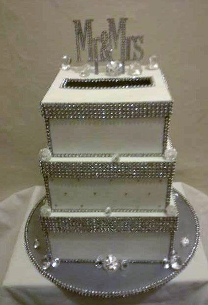 Blue and Bling wedding card box My Creations – Bling Wedding Card Box