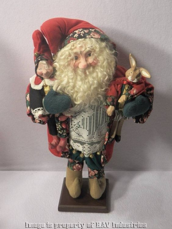 "HOH House of Hatten Night Before Christmas Santa Judith Griffith 20"" Figure"