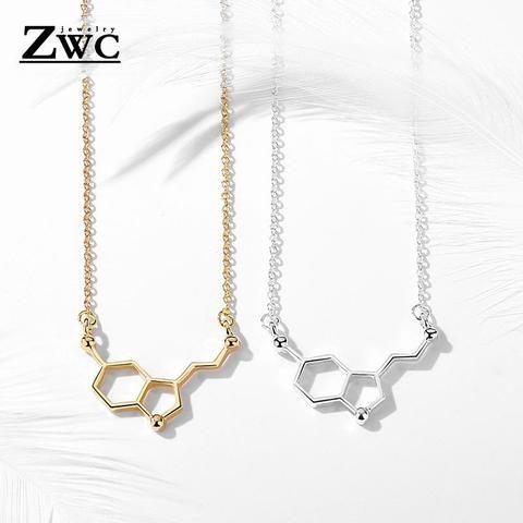 Ayahuasca THH Molecule Brass Necklace