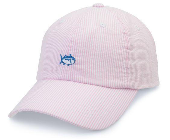 Seersucker Skipjack Hat - Pink