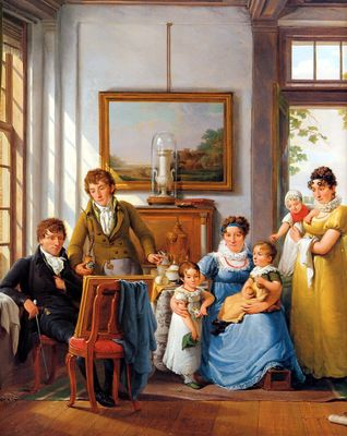 A range of children's clothing for different ages. Painter Abraham van Strij.  31december 1753 -  7 maart 1826    Hendrik Weymans and his family  date?