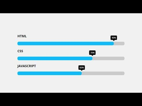 Animated Skills Bars Using Html Css Jquery Youtube Jquery Html Css Css