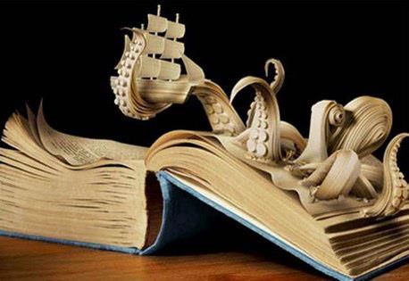 These carved books are pretty insane: http://weburbanist.com/2012/04/13/book-art-31-sculptures-worth-reading-about/