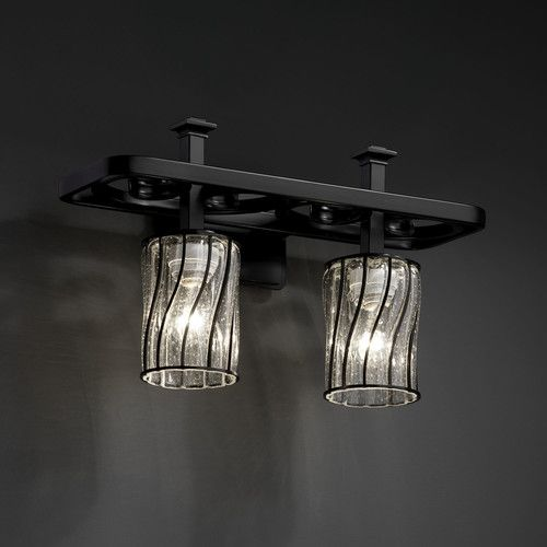 Justice Vanity Lights : Justice Design Group Wire Glass Arcadia 2 Light Vanity Light Lighting Pinterest Wire ...