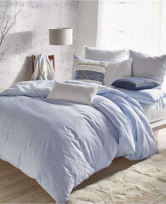 Twin Xl Bedding In A Bag Blue Bedding Light Blue Bedding Mattress Furniture
