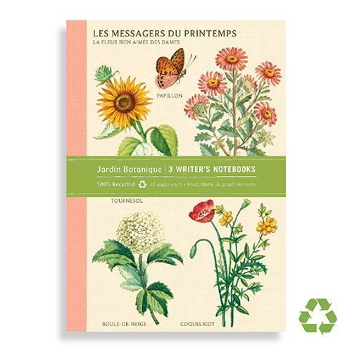 Jardin Botanique Writer's Notebooks Set of Three from Galison