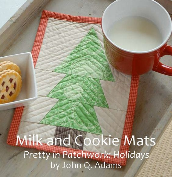Milk and Cookie Mats by John Q. Adams for Pretty in Patchwork: Holidays by Stumbles & Stitches, via Flickr