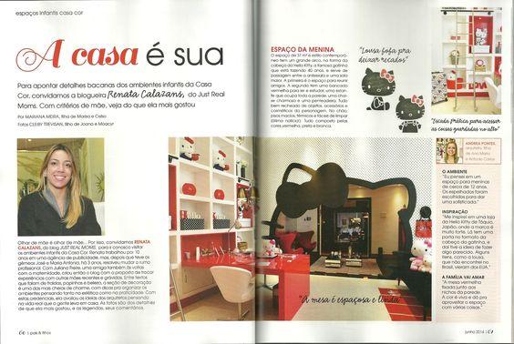 Espaço da Menina , Casa Cor São Paulo, na revista Pais & Filhos do mês de Junho.