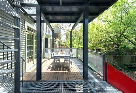 The Positioning Of Deck Forms And Metal Grating Allow Light To Penetrate Through Grates For Decks Snow Exterior Stairs Pergola Plans Design Metal Deck