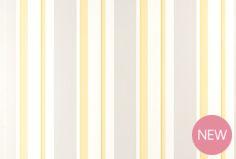 Eaton Stripe Camomile Yellow Wallpaper