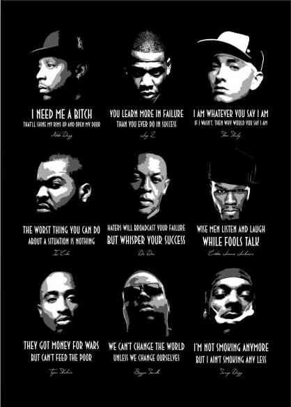 Hip Hop Legends 1 3 V1 0 Poster Hip Hop Quotes Hip Hop Poster Rap Quotes
