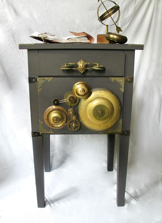 "Le Rouge et Noir: Stunning Steampunk styled and re-designed or hacked Ikea Cabinet ""Thomas Edison"". http://de.dawanda.com/shop/Le-Rouge-et-Noir https://www.etsy.com/de/shop/LeRougeetNoir https://www.homify.de/projekte/83363/vorher-nachher"