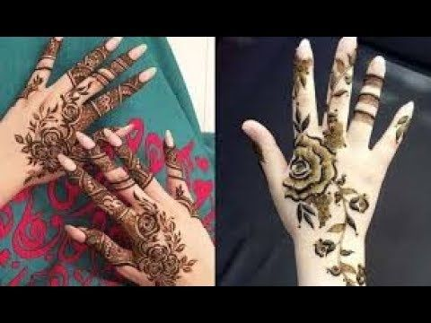 New Latest different Roses style Mehndi Design 2018