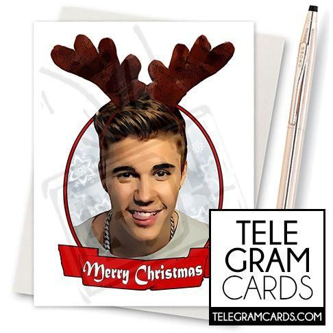 Justin Bieber 001d Ilcs Xms Merry Christmas Funny Wedding Cards Funny Greeting Cards Birthday Cards For Friends