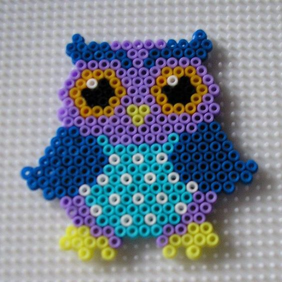 owl hama mini beads by paularo2015 hamma pinterest chouette perles et ps. Black Bedroom Furniture Sets. Home Design Ideas