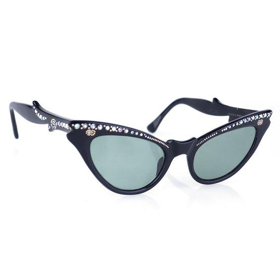 Vintage 50s Rhinestone Cat-Eye Sunglasses – THE WAY WE WORE