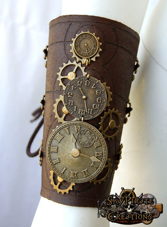 Hey, I found this really awesome Etsy listing at http://www.etsy.com/listing/152797377/steampunk-time-travel-leather-bracer