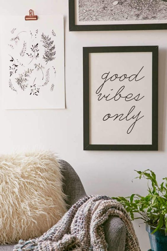 Honeymoon Hotel Good Vibes Only Art Print