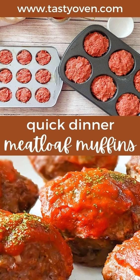 Muffin Tin Meatloaf Video Recipe Video Meatloaf Quick Meals Quick Meatloaf Recipes