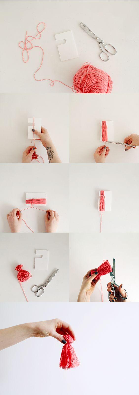 DIY: tassel: