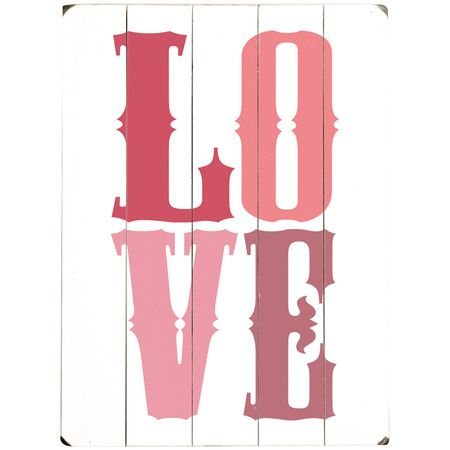 L.O.V.E. Wall Decor I pinned this L.O.V.E. Wall D cor from the Energizing Hues event at Joss and ...