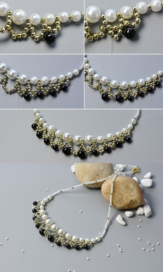 The tutorial about the beaded bib necklace will be shared by LC.Pandahall.com: