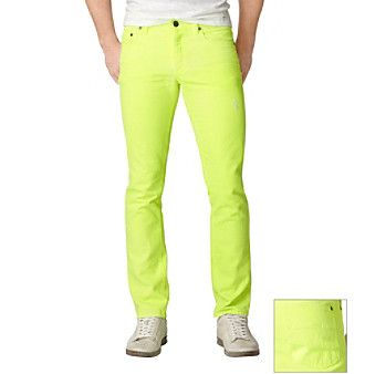 Product: Calvin Klein Jeans® Men&39s Neon Yellow Skinny Jean