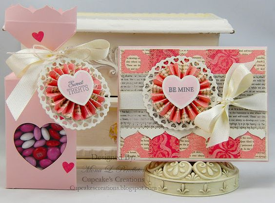 Adorable paper and a fabulous medallion/rosette