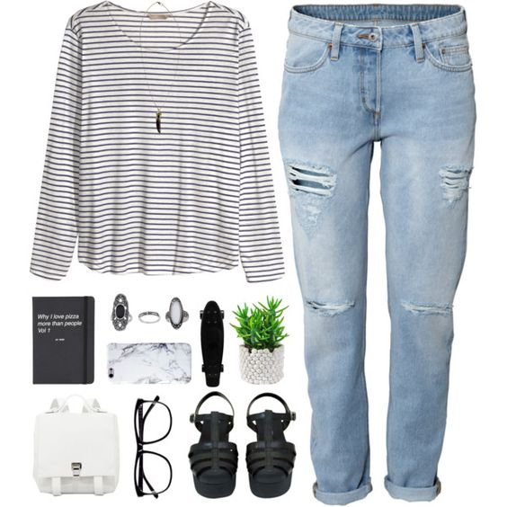 Untitled #574 by amy-lopezx on Polyvore featuring мода, H&M, Chanel, Proenza Schouler, Topshop, Boohoo, women's clothing, women's fashion, women and female