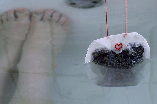 bathtub tea bags