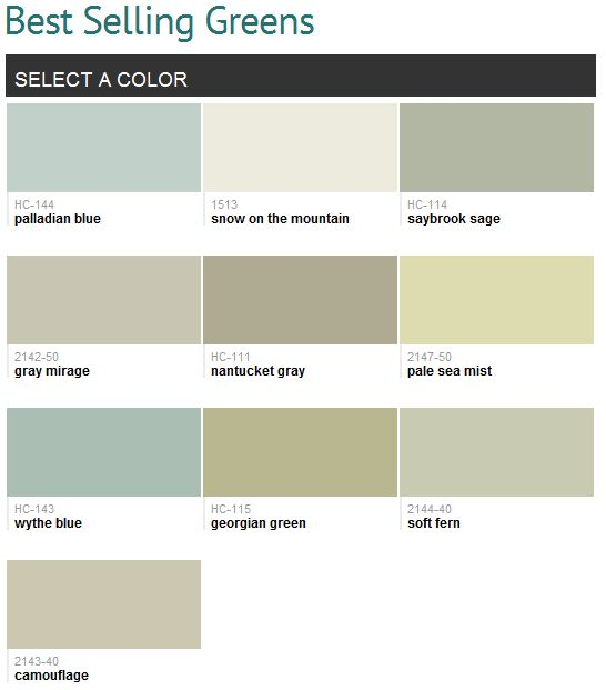 Benjamin Moore Green And Palladian Blue On Pinterest