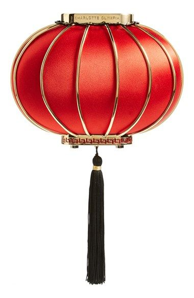 Free shipping and returns on Charlotte Olympia 'Lantern' Silk Minaudiere at Nordstrom.com. Part of Charlotte Olympia's Chinese-inspired fall collection, this lantern-shaped minaudiere sculpted from blazing-red silk instantly brightens any ensemble. A swishy tassel adds authentic, far-flung flair, while an optional, goldtone chain strap provides festive versatility.:
