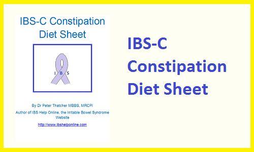 Ibs C Constipation Diet Sheet Www Ibshelponline Com For