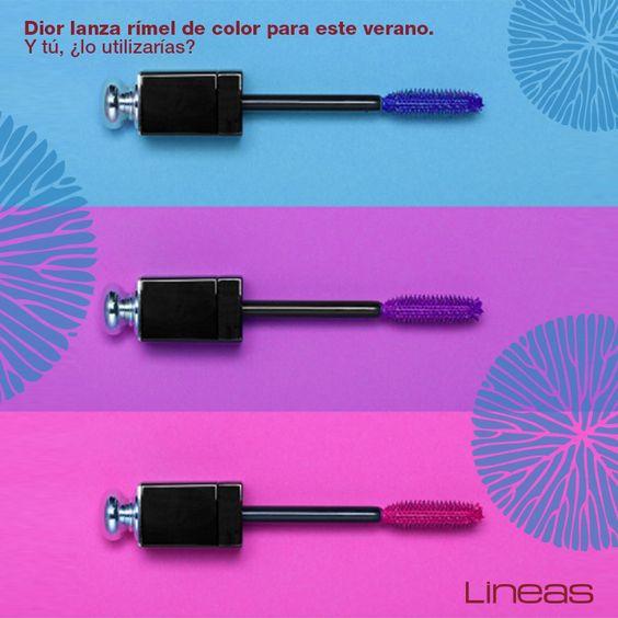 Dior: Rímel de color. #Lineas #outfit #moda #tendencias #2014 #ropa #prendas #estilo #primavera #outfit #rimel #color #dior
