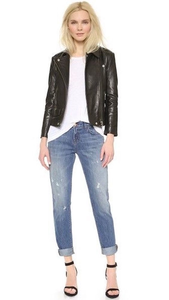 $228 NEW J BRAND JAKE SLIM BOYFRIEND JEANS 9044 IN BROKEN DESTRUCTED DENIM 25…