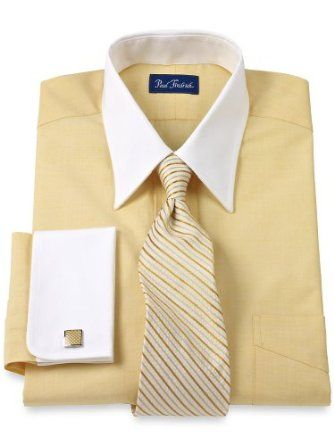 French tans and shirts on pinterest for Mens dress shirts with cufflink holes