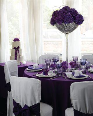 plum wedding table decorations - Google Search