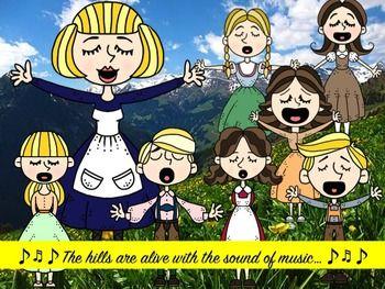 The Sound of Music Clip Art Collection | Layering ...