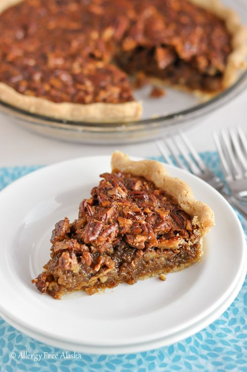 Would look good on our Tgiving tables! Gluten-Free Pecan Pie (Corn Syrup Free, Refined Sugar Free) from @AllergyFreeAK