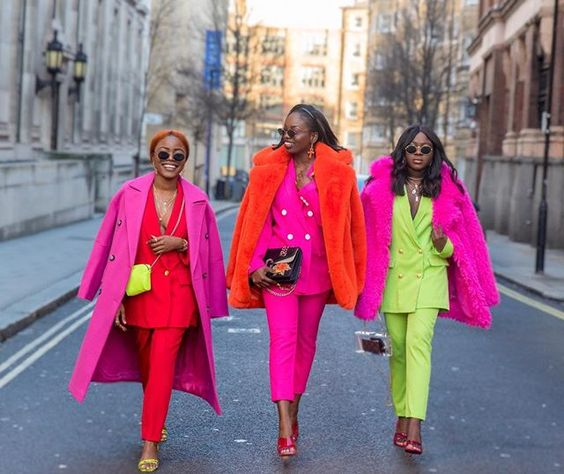 The suit trend on your favorite black UK bloggers #colourblocking