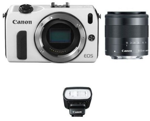 Canon EOS M Mirrorless Digital Camera with EF-M18-55mm IS STM Lens and 90EX Flash (White) - For Sale Check more at http://shipperscentral.com/wp/product/canon-eos-m-mirrorless-digital-camera-with-ef-m18-55mm-is-stm-lens-and-90ex-flash-white-for-sale/