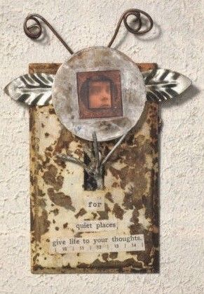 Quiet Places Assemblage Angel Found Art Laurie Dorrell