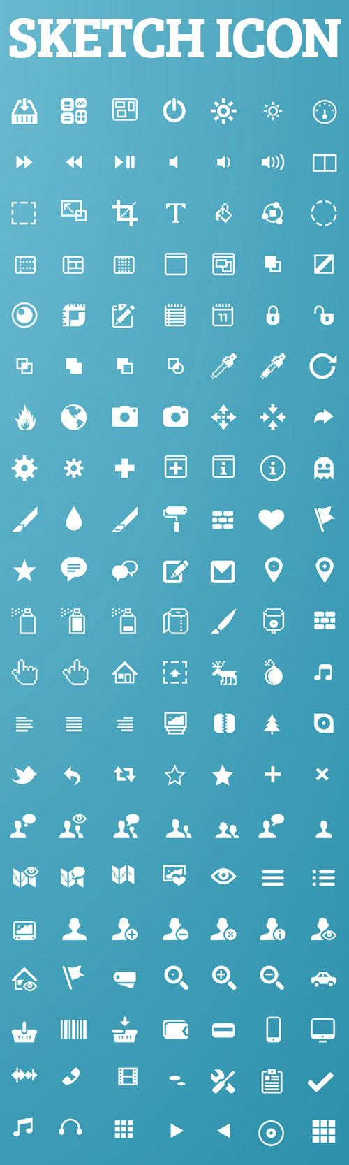 Sketch App Icons For Web UI Design