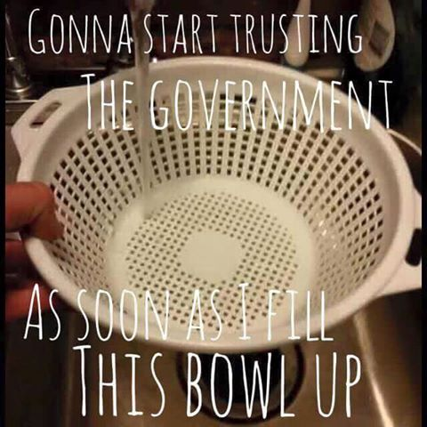 Trusting the government... NOT!!!