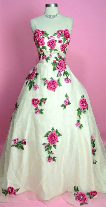 Beautiful rose 50 style gown