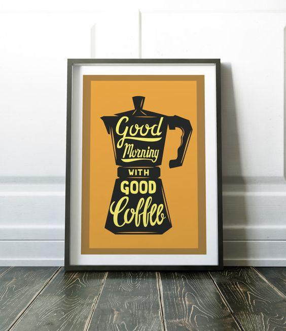 Impresión del arte café café pared impresión decoración cocina ...