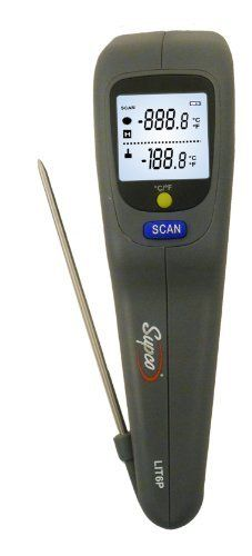 Supco LIT6P Laser Infrared Thermometer with Probe, -20 to 270 Degrees C, -4 to 518 Degrees F, Accuracy of + or - 1% of Reading Plus 3 Degrees C by Supco. $42.04. The Supco LIT6P infrared thermometer with built-in penetration probe is for measuring surface and internal temperatures in a range of commercial and industrial applications. The infrared sensor measures temperature from -20 to 270 degrees C (-4 to 518 degrees F), with a best accuracy of + or - 1% of the reading plus 3 d...