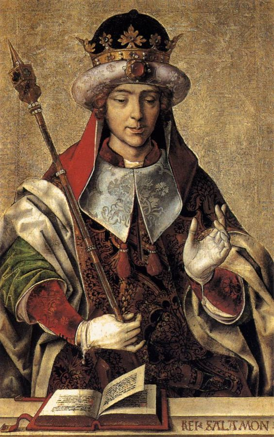 Rey Salomón, por Pedro Berruguete.